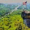 Chimney Rock Nc by Elizabeth Coats