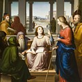 Christ Disputing With The Doctors In The Temple by Franz von Rohden