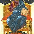 Christ Enthroned Icon  by Mark Dukes