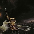 Christ In The Storm On The Sea Of Galilee by Ludolph Backhuysen