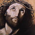 Christ With Crown Of Thorns by Laura Ury