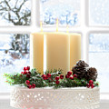 Christmas Candles Display by Amanda Elwell