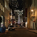 Christmas Eve 2009 On Maiden Lane by Wingsdomain Art and Photography