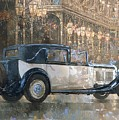 Christmas Lights And 8 Litre Bentley by Peter Miller