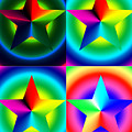 Chromatic Star Quartet With Ring Gradients by Eric Edelman