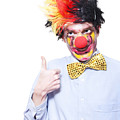 Circus Clown With Thumb Up To Carnival Advertising by Jorgo Photography - Wall Art Gallery