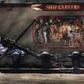 City - Ny South Street Seaport - Ship Carvers by Mike Savad