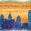 City In Pencil by Thomas  MacPherson Jr
