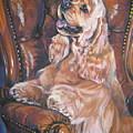 Cocker Spaniel On Chair by Lee Ann Shepard