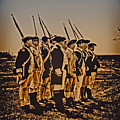 Colonial Soldiers On Parade by Bill Cannon