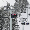 Colorado Chair Lift During Winter by Brendan Reals