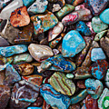 Colored Polished Stones by Garry Gay