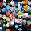 Colorful Key West Lobster Buoys by John Stephens