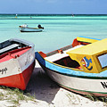 Colorful Traditional Fishing Boats by George Oze