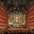 Concert Given By Cardinal De La Rochefoucauld At The Argentina Theatre In Rome by Giovanni Paolo Pannini or Panini