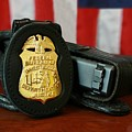 Contemporary Fbi Badge And Gun by Everett