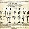 Continental Army Recruitment Broadside by Everett