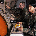 Control Technicians Use Radarscopes by Stocktrek Images