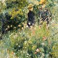 Conversation In A Rose Garden by Pierre Auguste Renoir