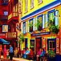 Courtyard Cafes by Carole Spandau