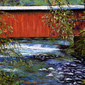 Covered Bridge And  Wissahickon Creek by Joyce A Guariglia