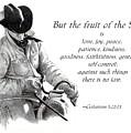 Cowboy With Fruit Of Spirit Scripture by Joyce Geleynse