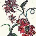 Crayon Flowers by Sarah Loft