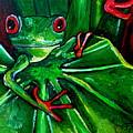 Curious Tree Frog by Patti Schermerhorn