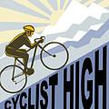 Cyclist Racing Bike by Aloysius Patrimonio