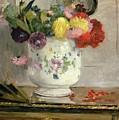 Dahlias by Berthe Morisot