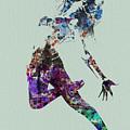 Dancer Watercolor by Naxart Studio