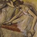 Dancers In Repose by Edgar Degas