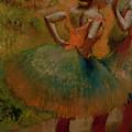 Dancers Wearing Green Skirts by Edgar Degas