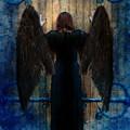 Dark Angel At Church Doors by Jill Battaglia