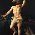 David Victorious by Jean Jacques II Lagrenee