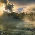 Dawn On Castle Geyser by Sandra Bronstein