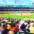 Day Game At The Old Ballpark by Wingsdomain Art and Photography