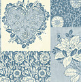 Deco Heart Blue by JQ Licensing