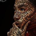 Derrick Rose Typeface Portrait by Dominique Capers