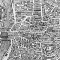 Detail From A Map Of Paris In The Reign Of Henri II Showing The Quartier Des Ecoles by French School