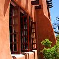 Detail Of A Pueblo Style Architecture In Santa Fe by Susanne Van Hulst