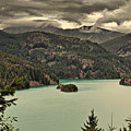 Diablo Lake - Le Grand Seigneur Of North Cascades National Park Wa Usa by Christine Till