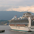 Diamond Princess Leaving Vancouver British Columbia Canada by Christine Till