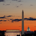 Digital Liquid -  Monuments At Sunrise by Metro DC Photography