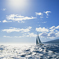 Distant View Of Sailboat by Ron Dahlquist - Printscapes