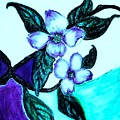 Dogwood Purple by Marsha Heiken