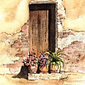 Door With Flowers by Sam Sidders