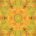 Double Star Abstract by Linda Phelps