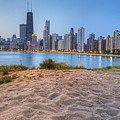 Downtown Chicago From North Beach by Twenty Two North Photography