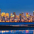 Downtown Vancouver From Spanish Banks Beach by Alexis Birkill